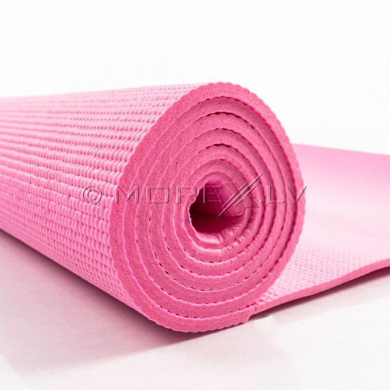Joogatreening pilates fitness mat 173х61х0.5 cm roosa