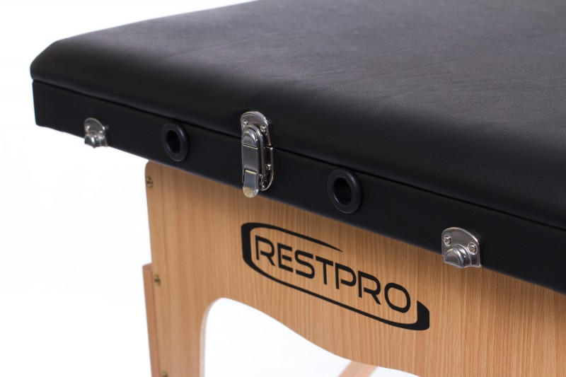 RESTPRO® Classic-3 Black kokkuklapitavad massaažilaual (diivan)