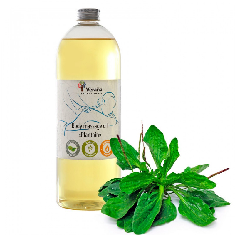 Body massage oil Verana Professional, Plantain 1 liter