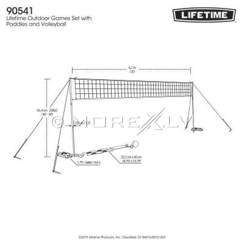 Lifetime Võrkpalli, sulgpalli, pickleballi komplekt, 90541