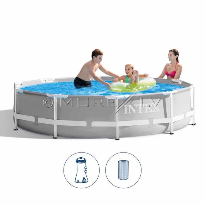 Karkassbassein Intex Prism Frame Premium Pool Set 305x76 cm, filterpumbaga (26702)