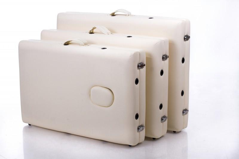 Kokkupandav massaažilaud - kušett RESTPRO® ALU 2 (M) Cream