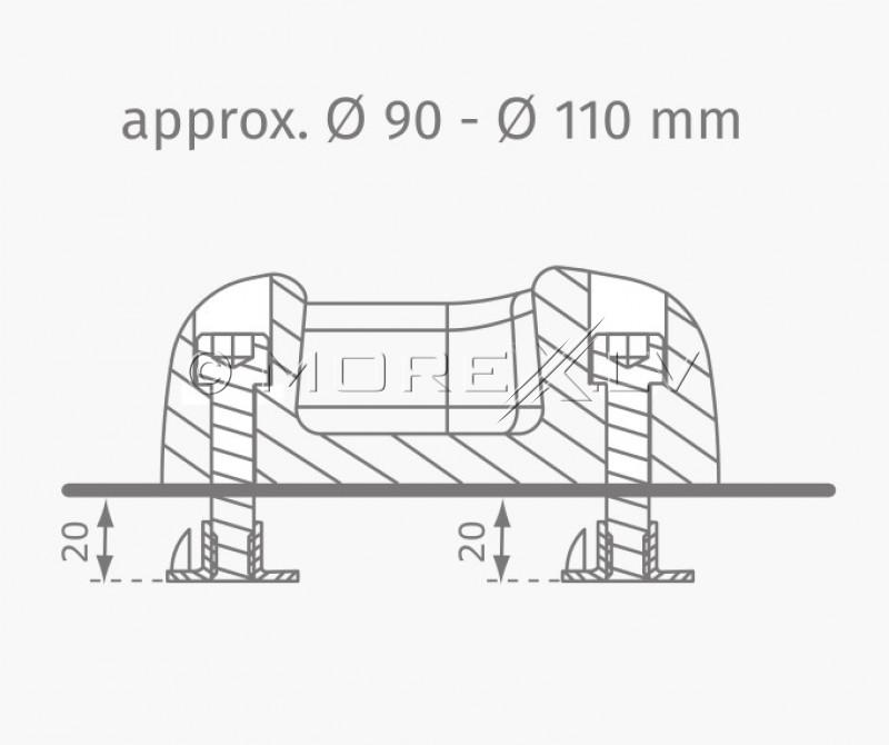 KWT Ø100-120 mm ronimiskivid, mitmevärvilised, 5 tk.
