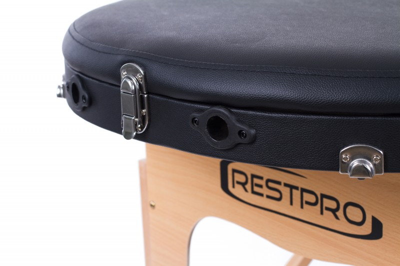 RESTPRO® Classic Oval 3 Black massaažilaual (diivan)