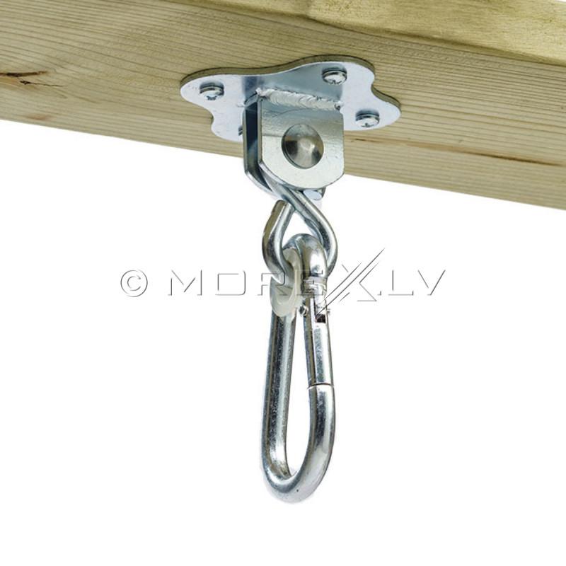 Karabiin kinnitamise jaoks, teras, Ø 6,3 mm