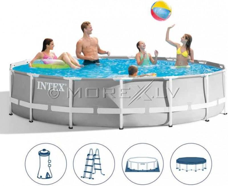 Karkassbassein Intex Prism Frame Premium Pool Set 427x107 cm, koos filterpumba ja aksessuaaridega (26720)