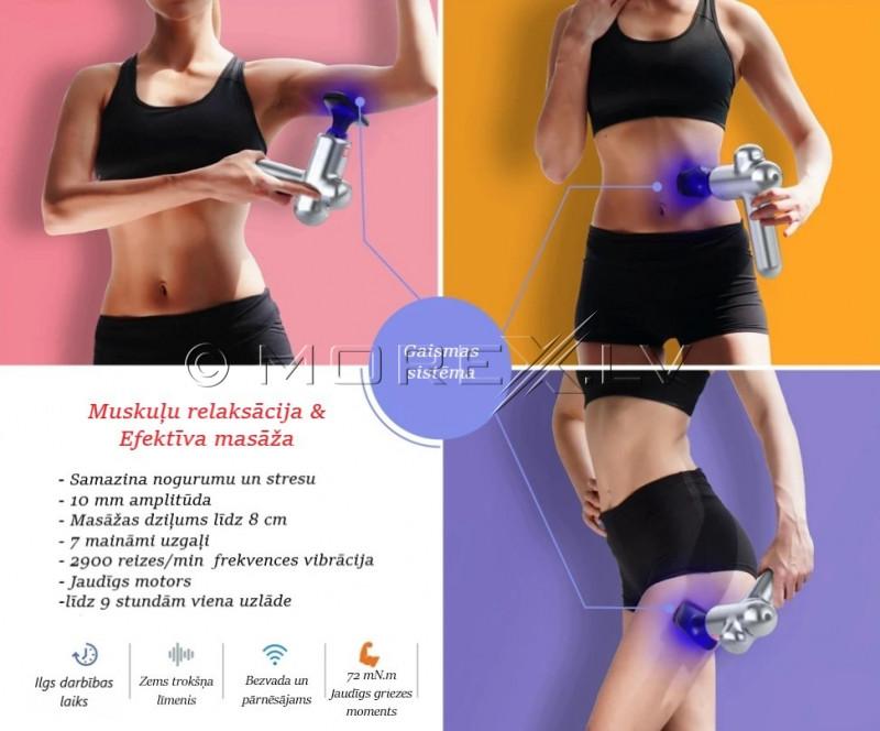 Massaažipüstol Hi5 Sportster, 7 otsakuga näolihaste masseerija