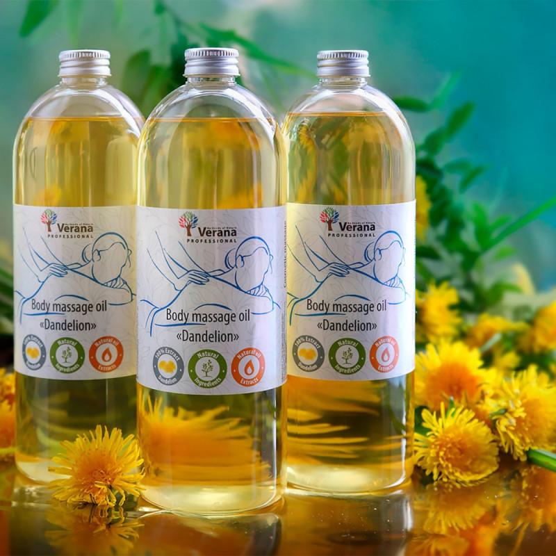 Body massage oil Verana Professional, Dandelion 1 liter