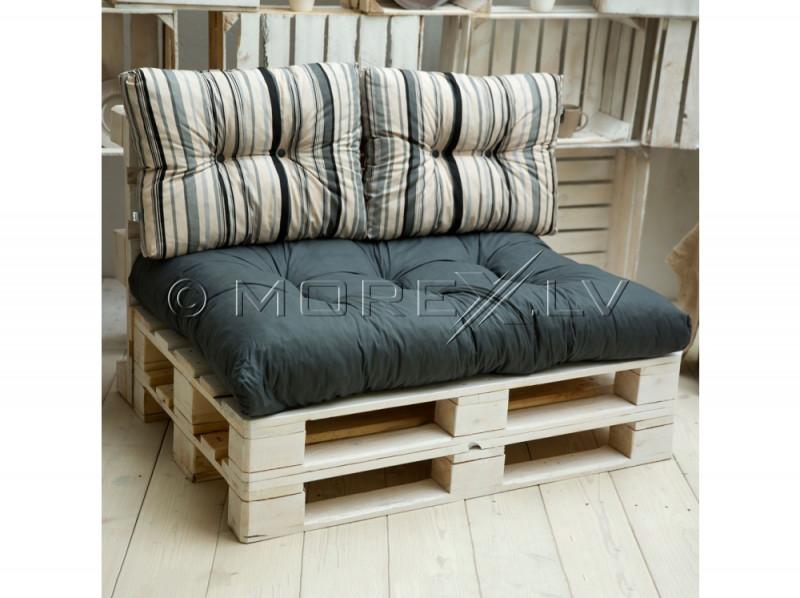 Madrats ja padjad alusplaatidest voodi jaoks, 120x80 cm, hallid
