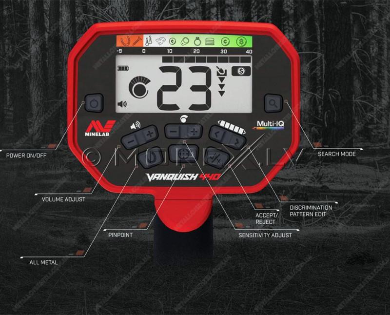 Metal detector Minelab Vanquish 440 + PRO-FIND 15 PinPointer