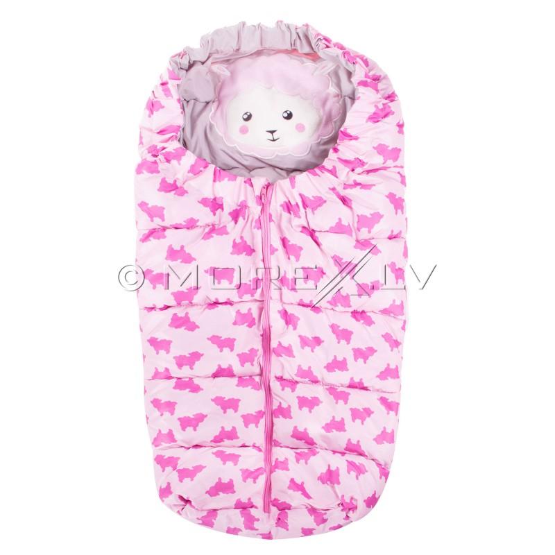 3f0dadae693 Laste magamiskott jalutuskäikude jaoks SB007 roosa mustriga SB007 ...