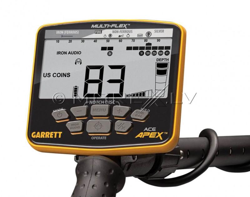 Metal detector Garrett ACE APEX + Wireless Headphones MS-3 Z-Lynk (1142325)