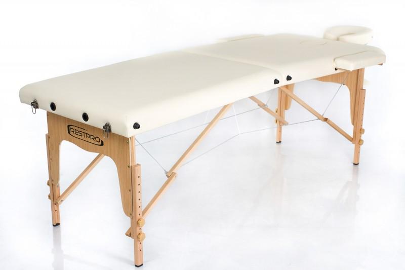 RESTPRO® Classic-2 Cream Massage Table + Massage Bolsters