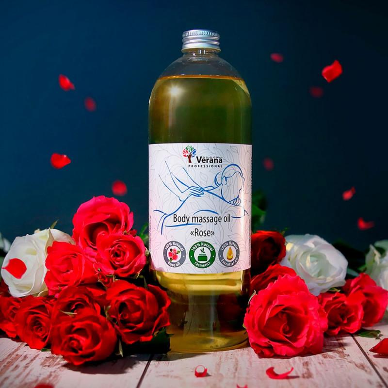 Body massage oil Verana Professional, Rose flower 1 liter