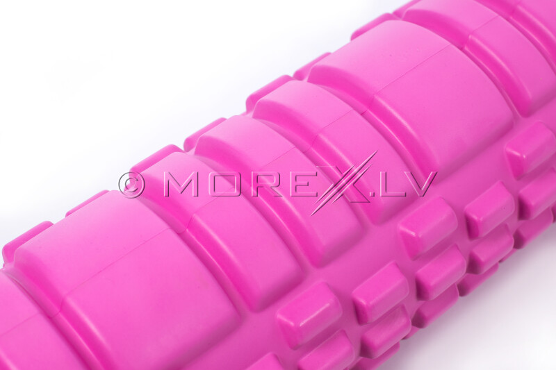 Massage Foam Roller Yoga Roller 14x62cm, roosa