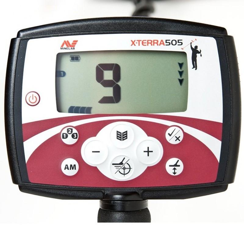 """Minelab X-Terra 505 with 10.5"""" 7.5kHz DD + GIFT (3705-0111)"""