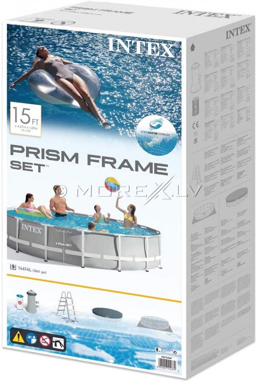 Karkassbassein Intex Prism Frame Premium Pool Set 457x122 cm, koos filterpumba ja aksessuaaridega (26726)