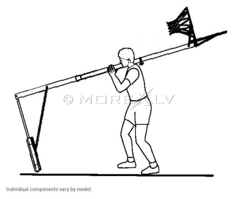 LIFETIME 1268 reguleeritav korvpallirõngas (2.45 - 3.05 m)