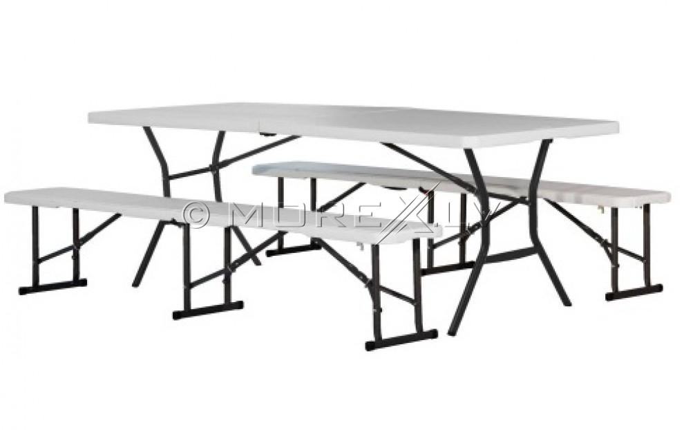 Kokkupandav laud 183x76cm + 2 Kokkupandav laud