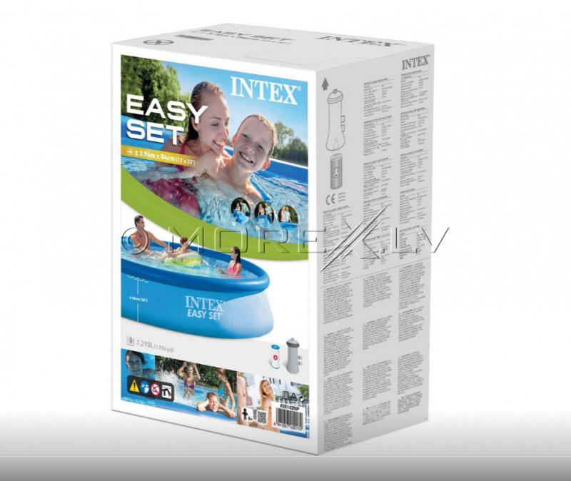 Täispuhutav bassein Intex Easy Set 396x84 cm, filterpumba (28142)
