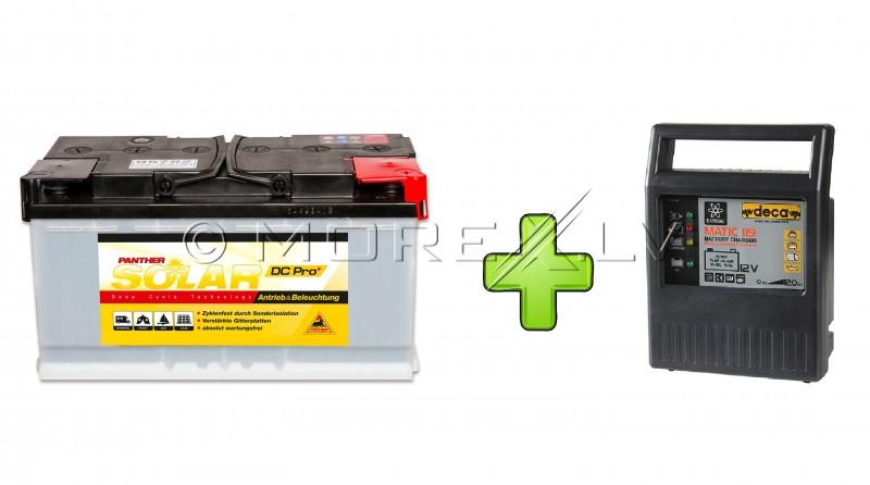 Solar Panther DC Pro+ 12V 105Ah + Deca 9A