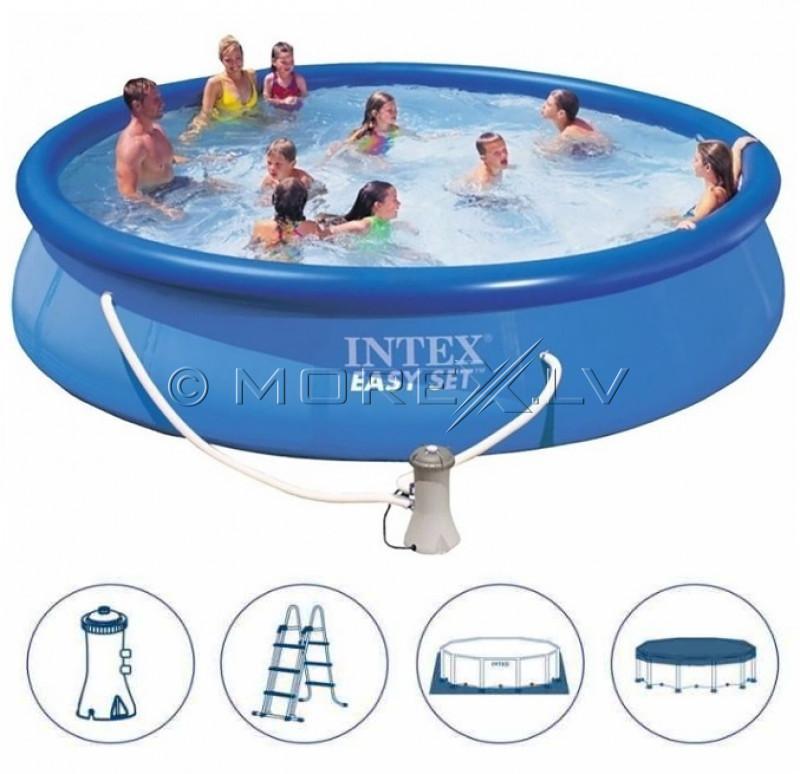 Bassein Intex Easy Set Pool 457x122 cm, koos filterpumba ja aksessuaaridega (28168)