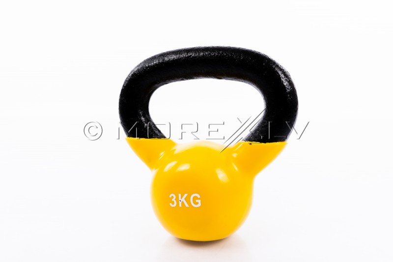 Metal Kettlebell With Vinyl Coating 3 kg