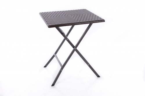 Rotangdisainiga kokkupandav kandiline laud 62x62x74 cm