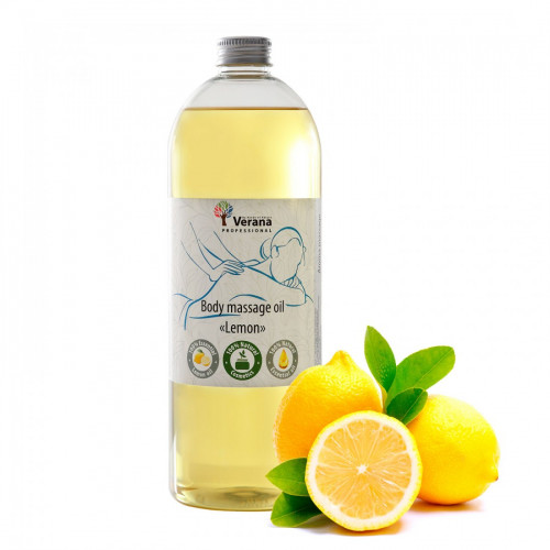 Body massage oil Verana Professional, Lemon 1 liter
