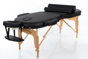 RESTPRO® VIP OVAL 3 BLACK Massage Table + Massage Bolsters