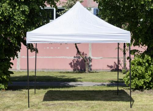 Pop Up mobiilne kokkupandav telk katusega 2.92x2.92 m, H-seeria (valge, teraskarkass, 420D polüester)