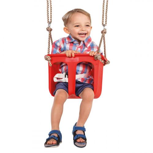 Laste kiik piirikutega, 12-24 kuud, KBT, punane