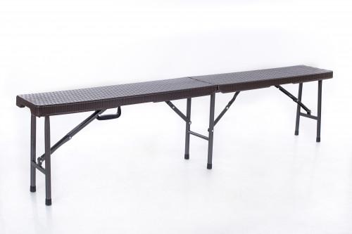 Rotangdisainiga kokkupandav pink 180x25cm