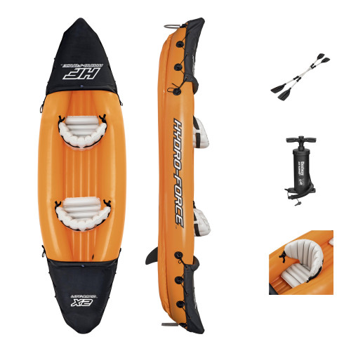 Two-seat inflatable kayak Bestway Lite-Rapid X2 321x88 cm 65077