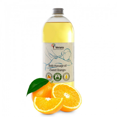 Body massage oil Verana Professional, Sweet orange 1 liter