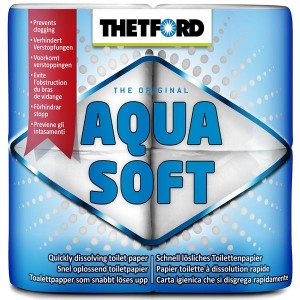 Soft, organic camping toilet paper - Thetford Aqua Soft 4 Pack