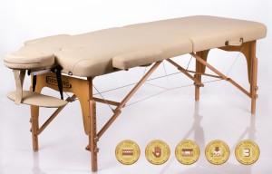 Kokkupandav massaažilaud - kušett RESTPRO® Memory 2 Beige