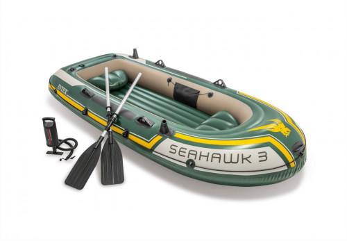 Täispuhutav kummipaat Intex SEAHAWK 3 BOAT SET (295х137x43)