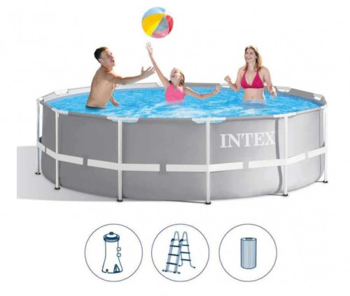 Intex Prism Frame Premium Pool Set 366x99 cm, with filter pump and accessories (26716)