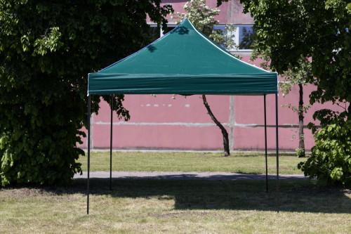Pop Up Kokkupandav varikatus ilma seinteta 2.92x2.92 m, H-seeria (roheline, teraskarkass, 420D polüester)