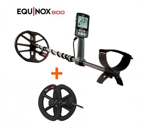 "Minelab Equinox 800 Metal Detector+Waterproof Search Coil 6"" Equinox"
