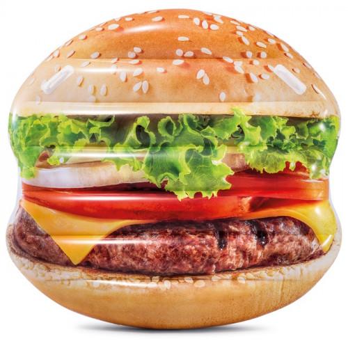 Täispuhutav parv puhkamise jaoks Hamburger, Intex 145x142 cm (58780)