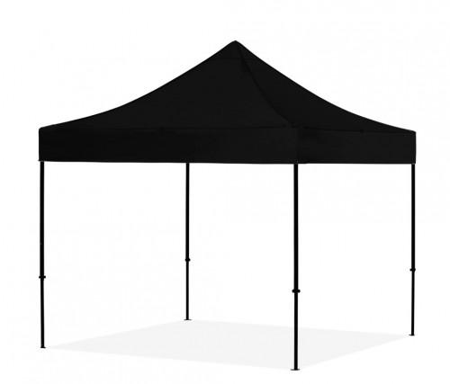 Pop Up Canopy - folding tent frame without walls 3x3 m, Black, X series, aluminum (portable gazebo, pit tent)