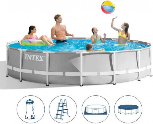 Intex Prism Frame Premium Pool Set 427x107 cm, with filter pump and accessories (26720)
