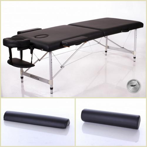 RESTPRO® ALU 2 L Black Set massaažilaud + massaažirullid (komplekt)