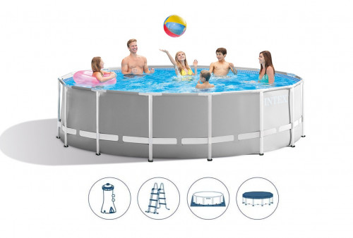 Intex Prism Frame Premium Pool Set 457x122 cm, with filter pump and accessories (26726)
