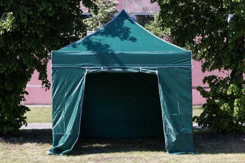 Pop Up kokkupandav telk 2.92x2.92 m, seinte ja katusega, roheline, seeria H, teras (telk, paviljon, varikatus)