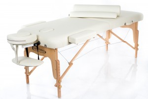 RESTPRO® VIP 2 CREAM Massage Table + Massage Bolsters