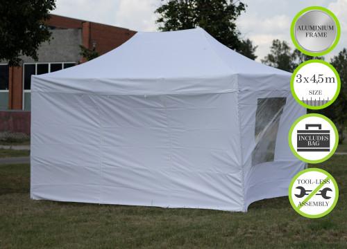 Kokkupandav N-seeria 3x4,5 m tent seintega - alumiiniumkarkass 50x50x1.8 mm