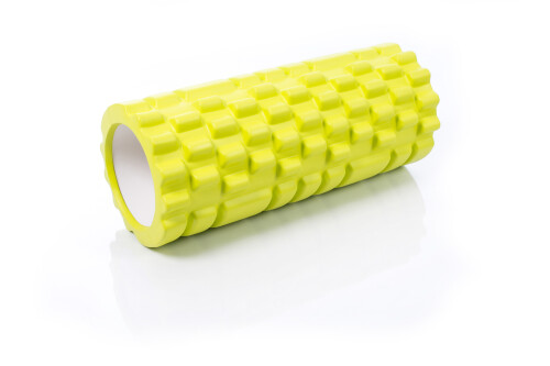 Massaažirull jooga jaoks Grid Roller 30x10cm, laimiroheline